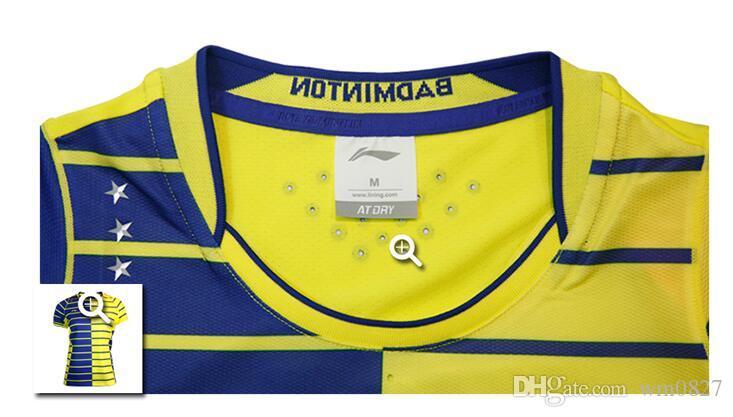 Männer Frauen Polyester schnelltrocknend atmungsaktiv absorbierende Li-Ning Badminton Jersey-Shorts, Tischtennis Jersey-Shorts, Pingpang Shirts M-4XL
