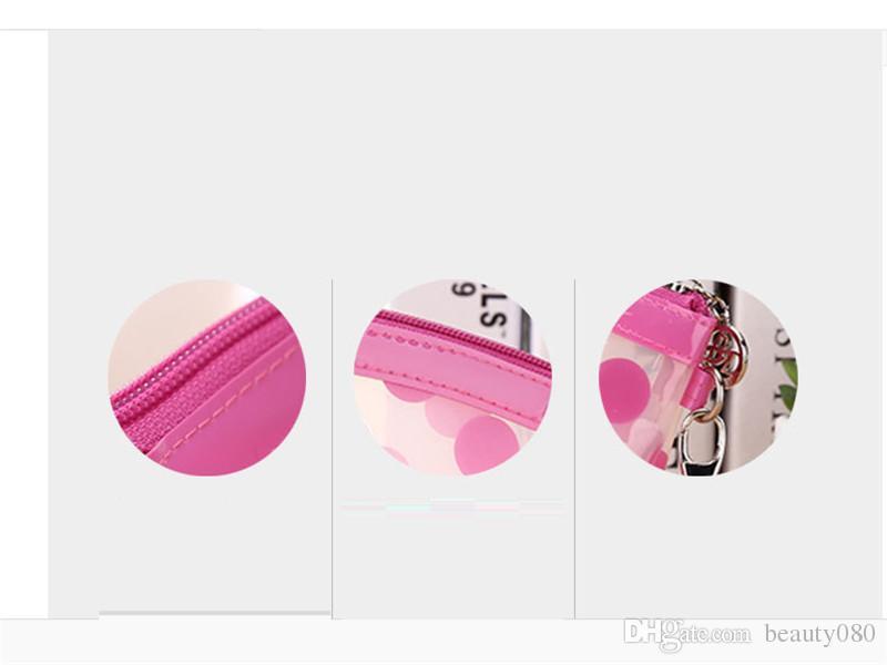 MB-08 Sevimli kız Su Geçirmez Seyahat Küçük Makyaj PVC kozmetik Çantası, plastik bayanlar makyaj çantası, pvc seyahat kozmetik makyaj çantası fermuarlı