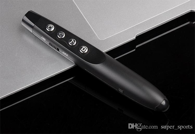 1 adet 360 derece Fiş Oyna RF 2.4 GHz Kablosuz USB PowerPoint PPT Sunum Presenter Uzaktan Kumanda 15 m Kırmızı Lazer Pointer Kalem Ücretsiz Kargo