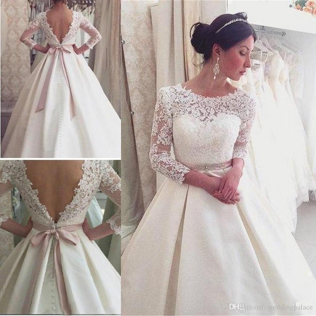 Ribbon Long Sleeve Dresses