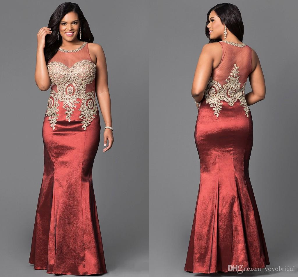 Sexy Mermaid Prom Evening Dresses Plus Size Cheap Hollow Lace