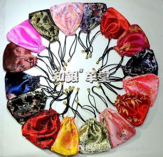 حقائب رخيصة الصغيرة الرباط الحرير للمجوهرات هدية الحقائب الصينية التغليف الحقيبة / بالجملة
