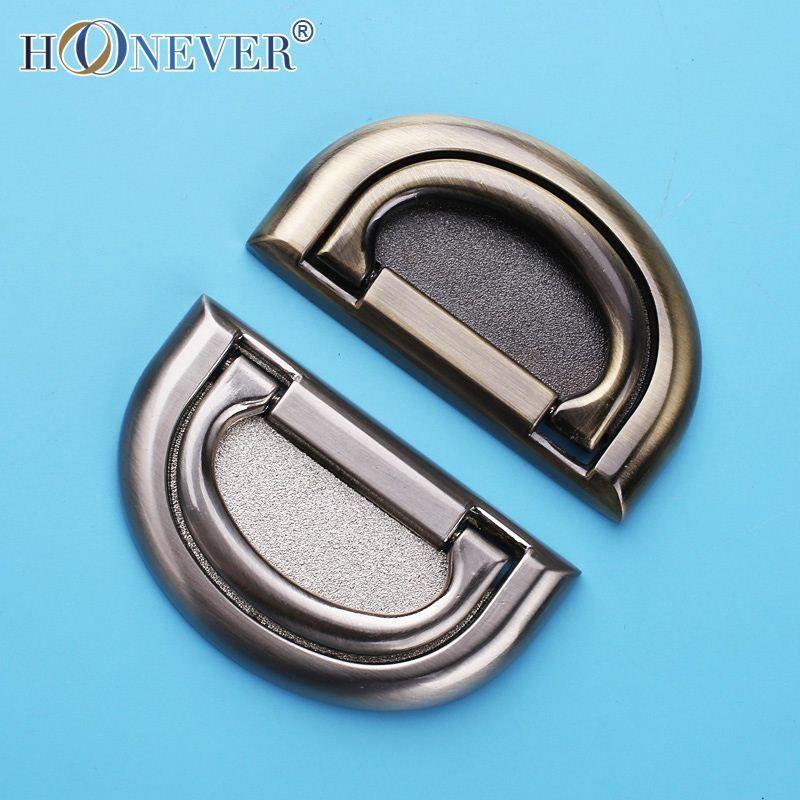 2018 Hidden Silver Drawer Handle Hideaway Zinc Alloy Modern Cabinet ...