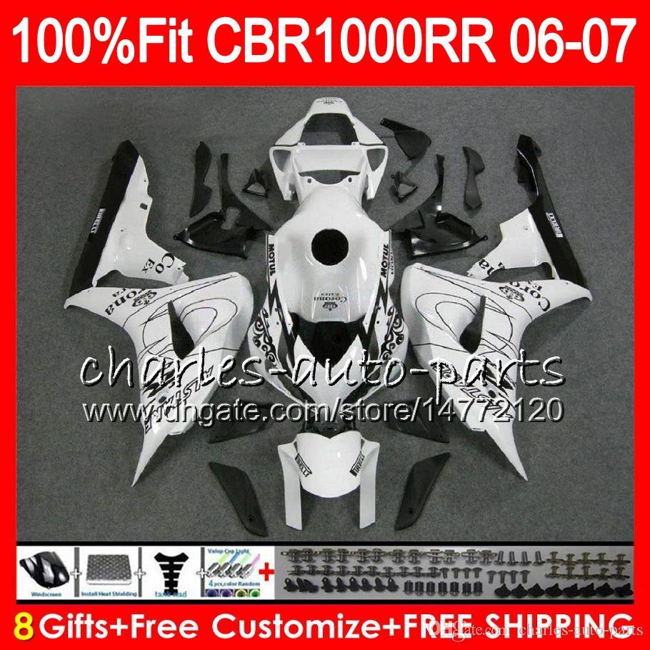 Injection Body For HONDA CBR 1000RR CBR 1000 RR 06 07 78NO63 100% Fit CBR1000RR 06 07 Bodywork CBR1000 RR 2006 2007 Fairing kit