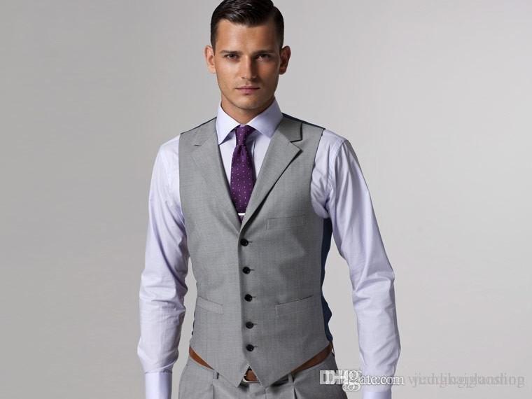 Custom Made Slim Fit smokings marié gris clair côté fente meilleur homme costume mariage garçon d'honneur / hommes costumes marié formelle smoking usure smokings