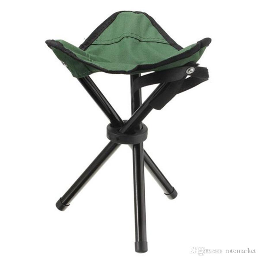 Outdoor Portable Lightweight Camping Hiking Fishing Folding Picnic Garden BBQ Stool Tripod Three Feet Chair Seat