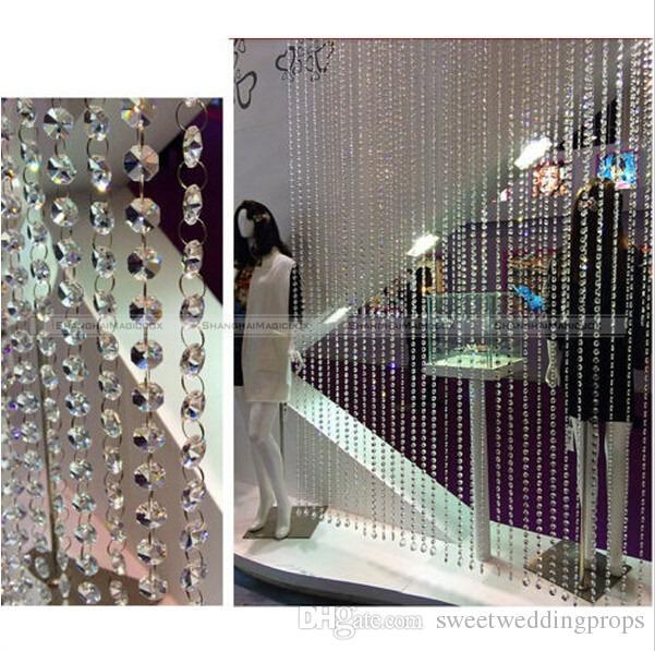 100 Metre Kristal Şeffaf Akrilik Boncuk Garland Avize Asılı Düğün Dekorasyon Gelin Duş Aksesuarları
