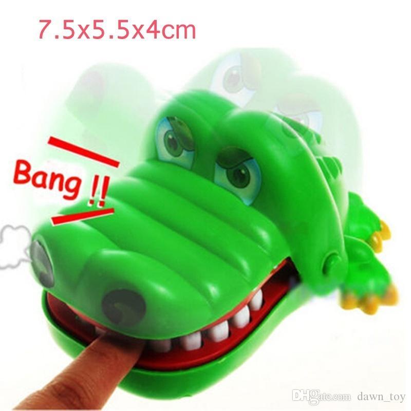Creativo Chidlren Kid Crocodile Bouth Dentist Bite Finger Gioco Funny Toy