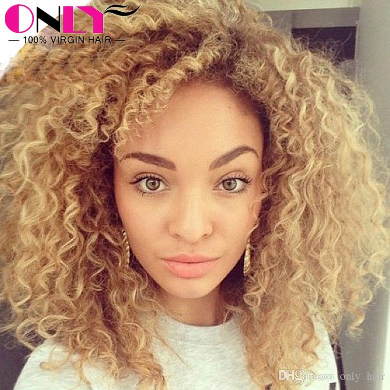 9a peruvian blonde curly hair extensions honey blonde remy human see larger image pmusecretfo Images