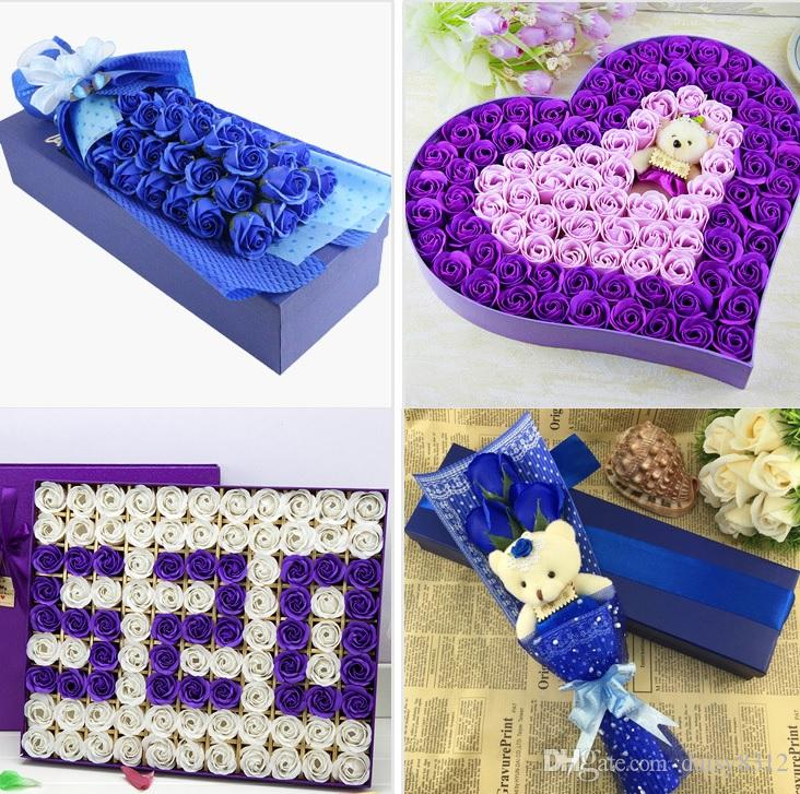 """2"""" Multicolor Artificial Flower Rose Soap For Wedding Party Birthday Souvenirs Gifts Favor Home Decoration"""