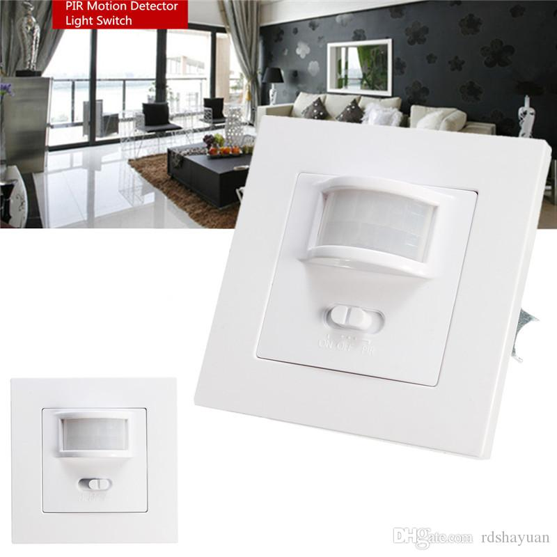 110V/AC-240V/AC Infrared PIR Motion Sensor Detector Light Switch Sensor Recessed Wall Lamp Bulb Switch 50-60Hz 140 Degree