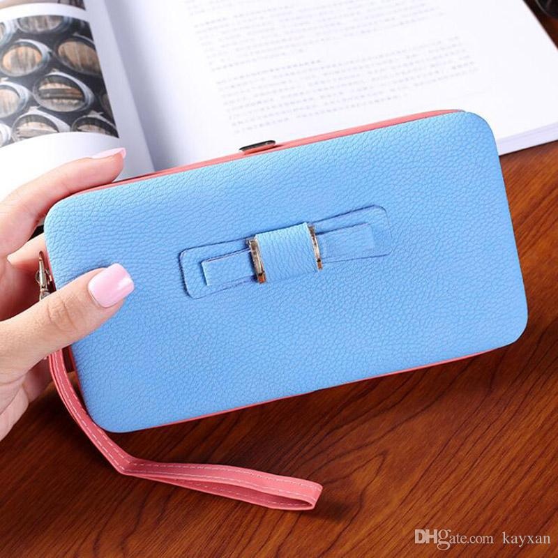 Women Mobile Phone Case Leather Wallet Clutch Covers for iPhone 8 7 6 6S High-End Bow Tie Phone Cases Mixed