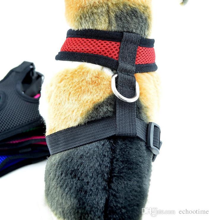 2017 Moda naylon net köpek pet koşum Yumuşak Hava Mesh köpek Harness pet giyim toptan köpek koşum