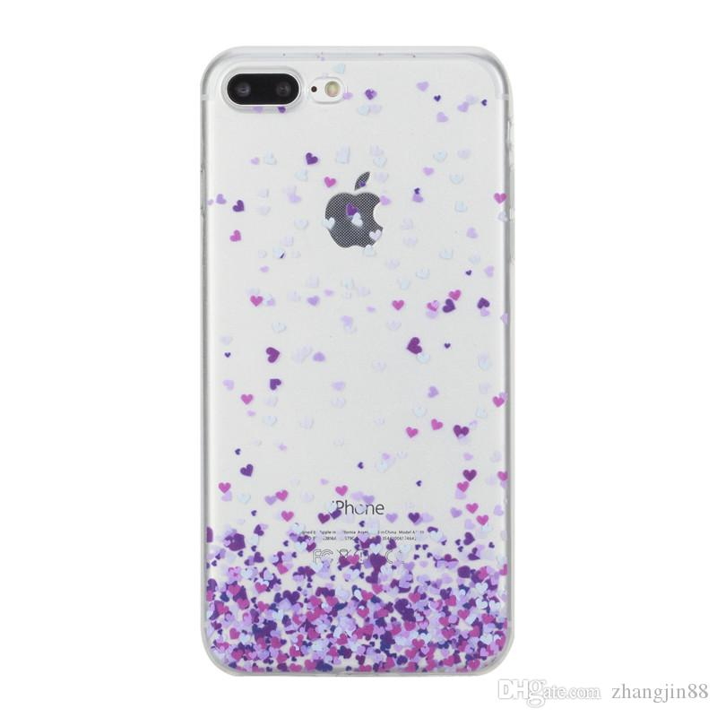 "For iPhone 7 Plus / 8 Plus (5.5"") Transparent Soft Silicone Ultra Thin Case Cover Flexible Shockproof Phone Case"