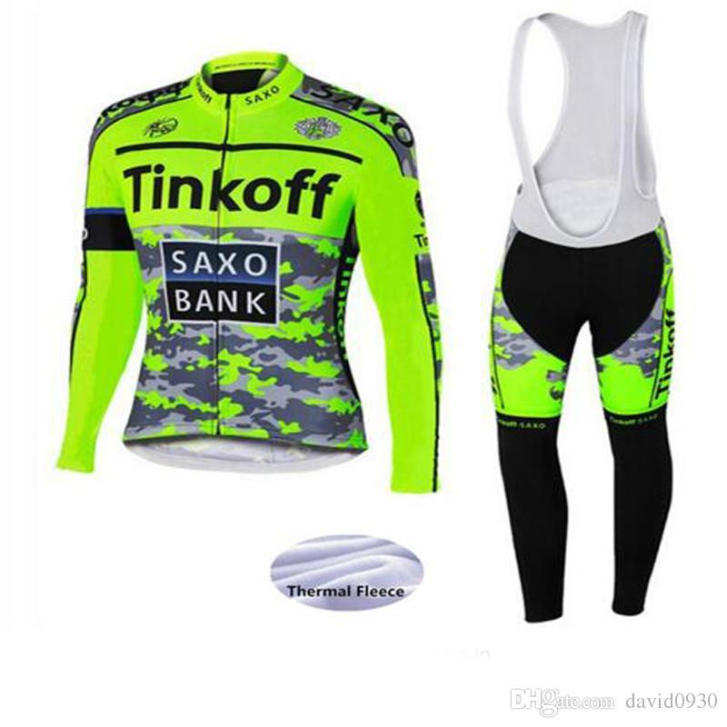 5aa74902ae6 Pro Team Cycling Jersey Set Bike Wear Winter Thermal Fleece Ropa ...