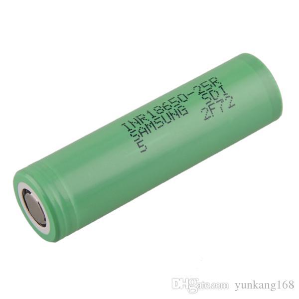 Original 18650 25R Bateria 2500 mAh 3.7 V 18650 Bateria de Alta Dreno Bateria célula fit Sigelei Cloupor Kanger Box Mods