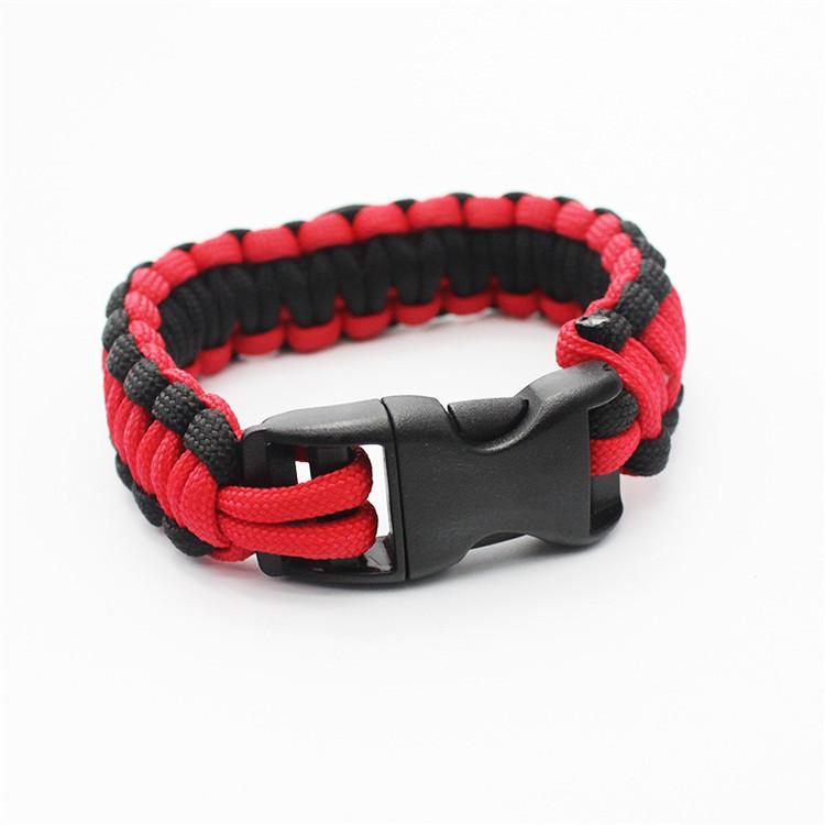 Mix Colour 200 Team Paracord Survival Braccialetti Custom Made Camping Sports Braccialetto NCAA College Charm braccialetto da squadra