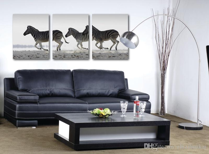 Wall decoration no frame picture Canvas Prints Bamboo zebra horse mountain Cartoon lotus leaf fish chinese characters