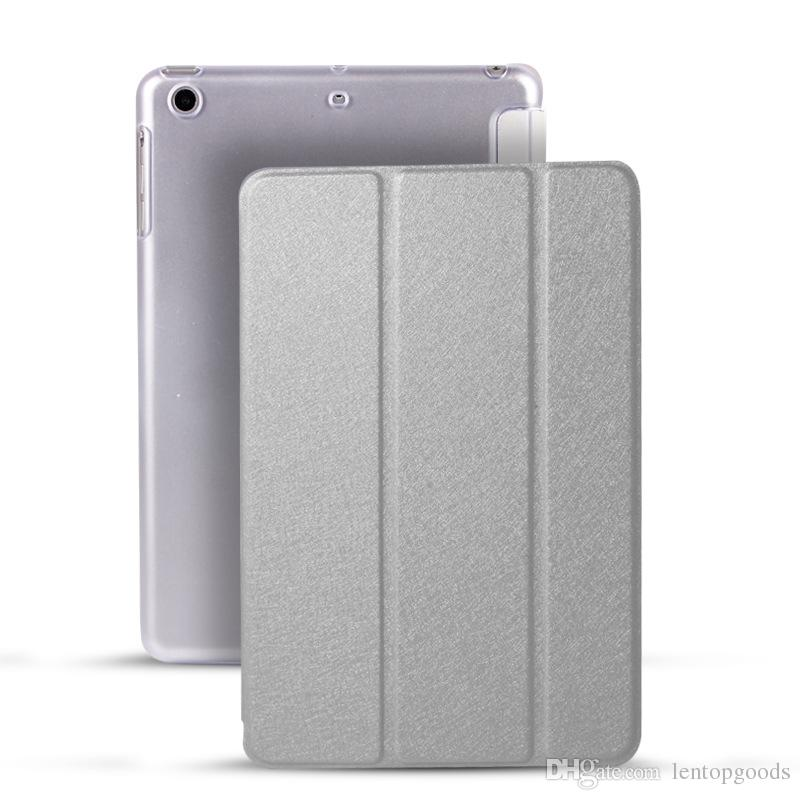 Case for iPad Pro 10.5 inch 2017, Ultra Slim Lightweight Stand Smart Shell Cover Translucent Frosted Back Cover + Soft TPU Edge