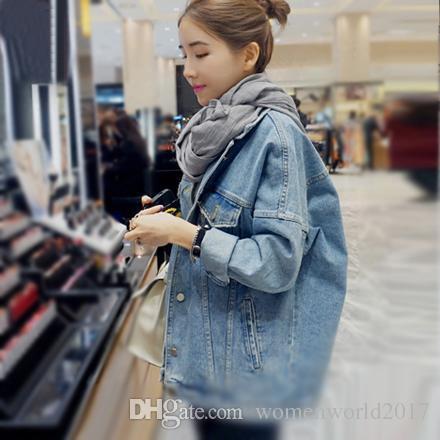 Autumn & Winter Women Denim Jacket Denim Jacket Loose Long Sleeve Female Coats Large Size Female Jacket