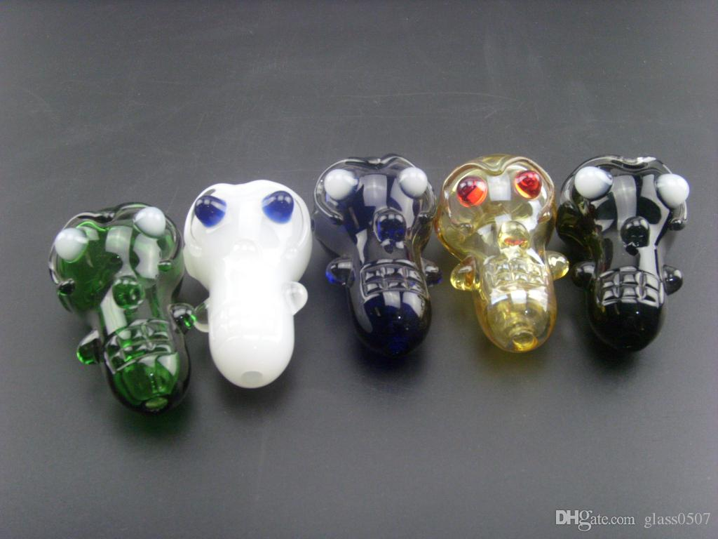 Nuovo di zecca E.T. type Glass Smoking Pipes Cool Designs Ultra-light 56g ciascuno