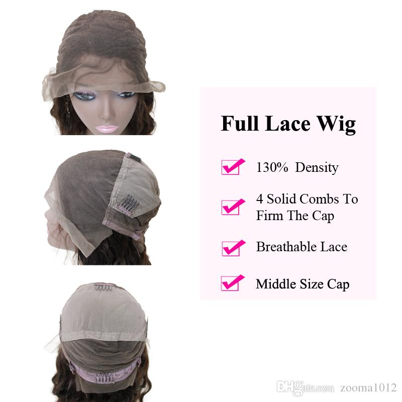 """Brazilian Afro Kinky Curly Human Hair Wigs #1b natural black 130% Swiss Lace Front Wigs 10""""-30"""" Cheap Glueless Wig For Black Women"""