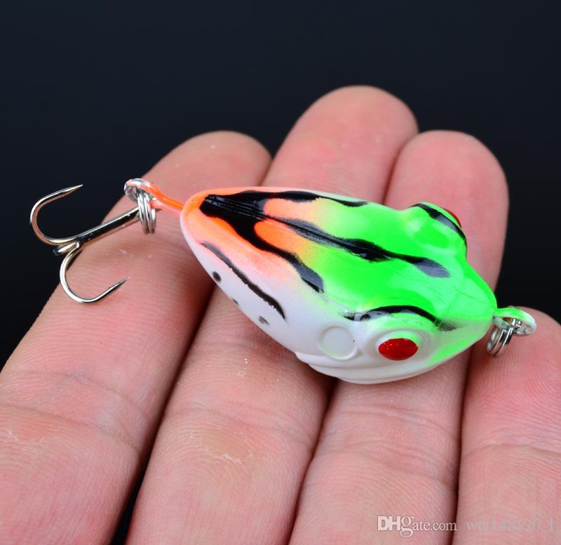 6 cores 4.2 cm 6.5g Sapo De Plástico Iscas Duras Iscas Ganchos De Pesca 6 # Gancho Isca Artificial de Pesca Equipamento de Pesca acessórios