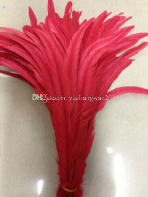 New Rooster tail feather DIY feather clothing accessories jewelry accessories / wedding supplies / performance necessary 30-35cm