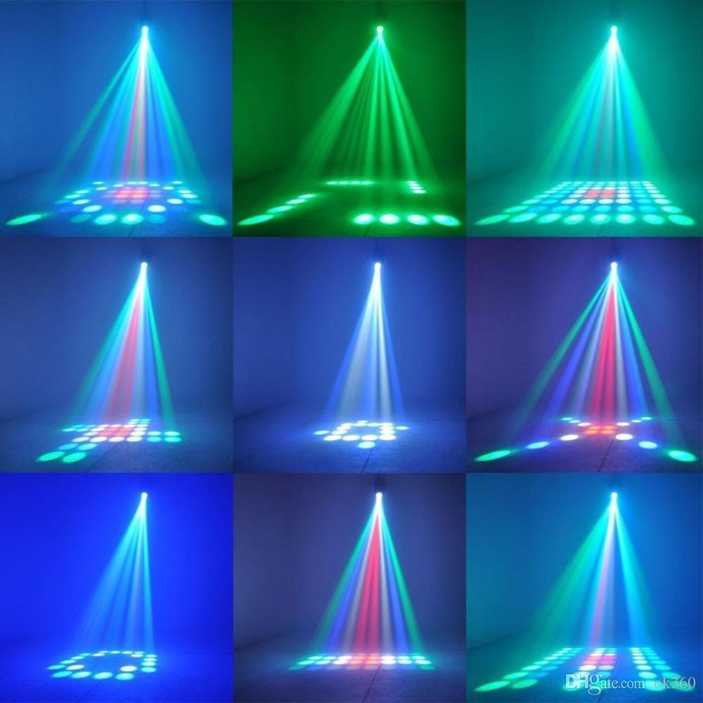 Eyourlife 64 Led DJ Disco Light Sono-activé RGBW Spectacle Musique Pour DJ Party KTV Club Bar Effet Lumière laser de vacances