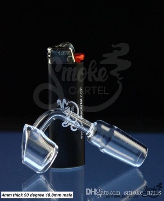 DabWorthy Thick-Style Quartz Banger 4mm d'épaisseur club banger clou en quartz sans dôme 10mm / 14.5mm / 18.8mm mâle / femelle, pipes à eau pour bang