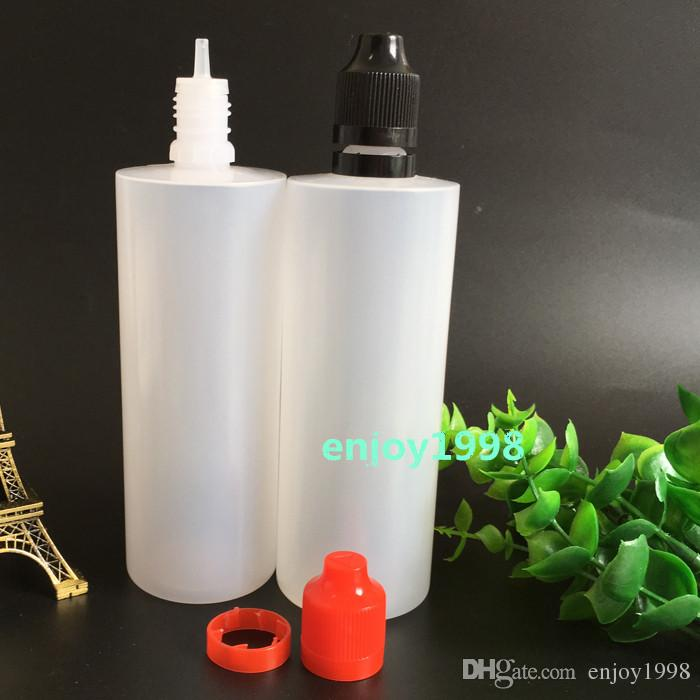 120ml Plastic Dropper E Liquid Bottle Child-Tamper Seal proof Cap HIgh Quality Soft LDPE 120ml E Cig Juice Liquid Bottle