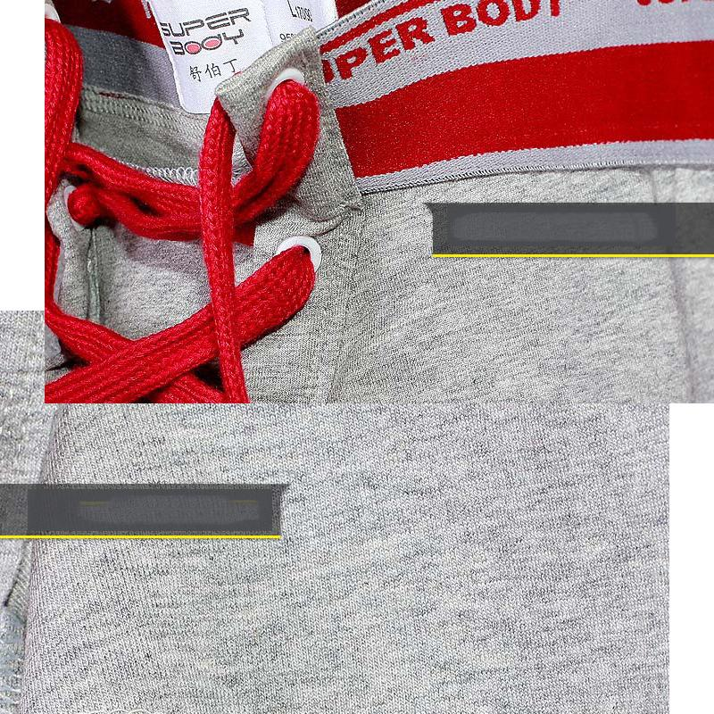 Mans Underwear Short Underpants Sexy Style Tie Lace-up Design Solid Color Man Boxer Briefs Cotton Knitted Plus Size Available