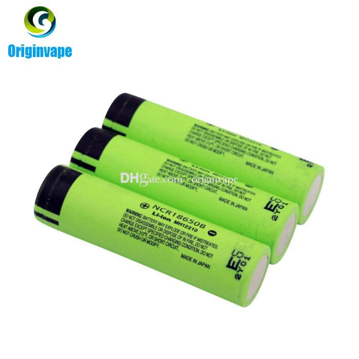 100% Authentic 3400mah 18650 Battery NCR18650B Lion Lithium Rechargeable Batteries Battery For E Cigarette/Flash Light Fedex