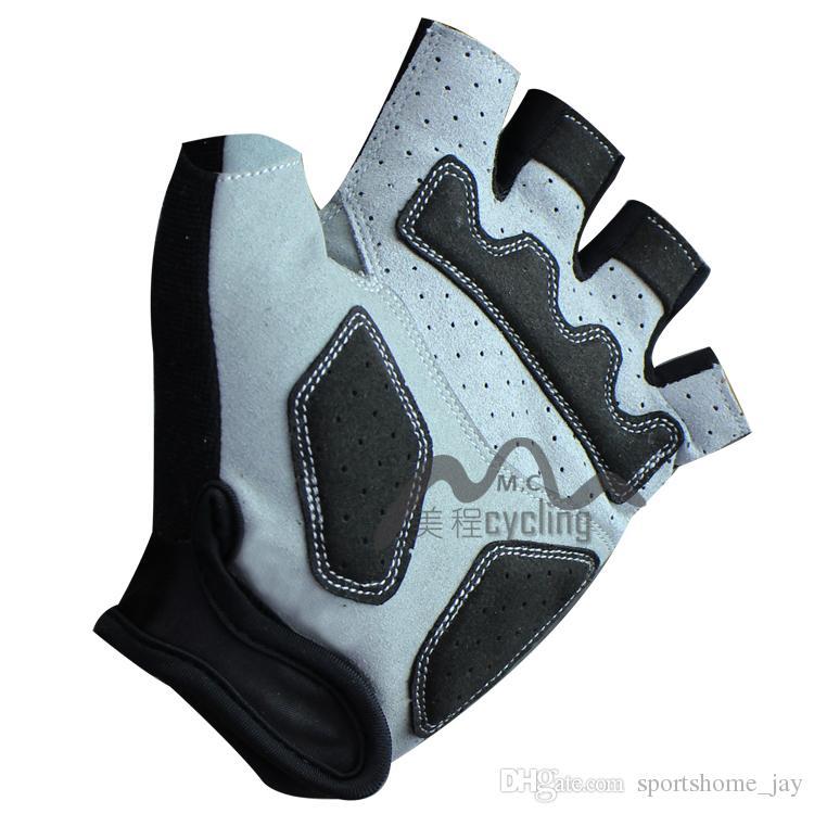 2018 SCOTT Cycling Bike Bicycle Team Antiskid GEL Sports Half Finger Silicone Gloves Size:S-XL