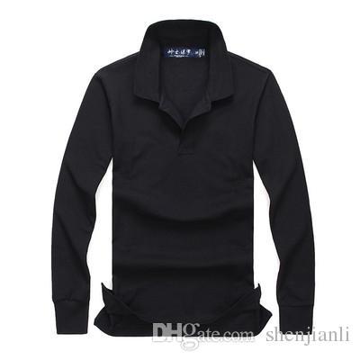 Freies Verschiffen 2017 Herbst und Winter neue hochwertige Herrenmode Langarm-Polo-Shirt der beiläufigen Männer POLO-Hemd Lange Ärmel Größe S-XXL