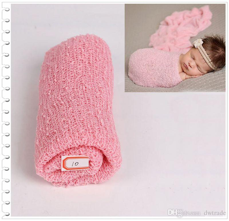 Prettybaby newborn colorful wraps scarves elastic infant baby shoot photograph supplier 35*150 cm baby clothes Pt0555#