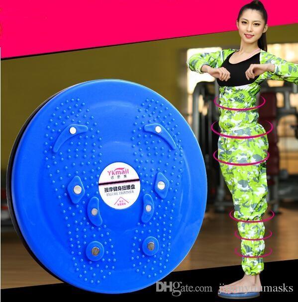 Nueva caliente de alta calidad de la cintura que tuerce DISCO YOGA TWIST BOARD reflexología cuerpo torsión cintura disco envío gratis