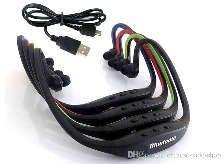 S9 fone de Ouvido Estéreo Sem Fio fone de Ouvido Bluetooth Speaker Neckband Peal branco opp pacote 30 pçs / lote