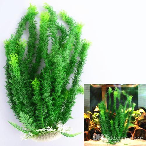 large 1047cm green artificial plant aquarium plastic plants ornament fish tank landscape decoration decor for large tank from deze 185 dhgatecom