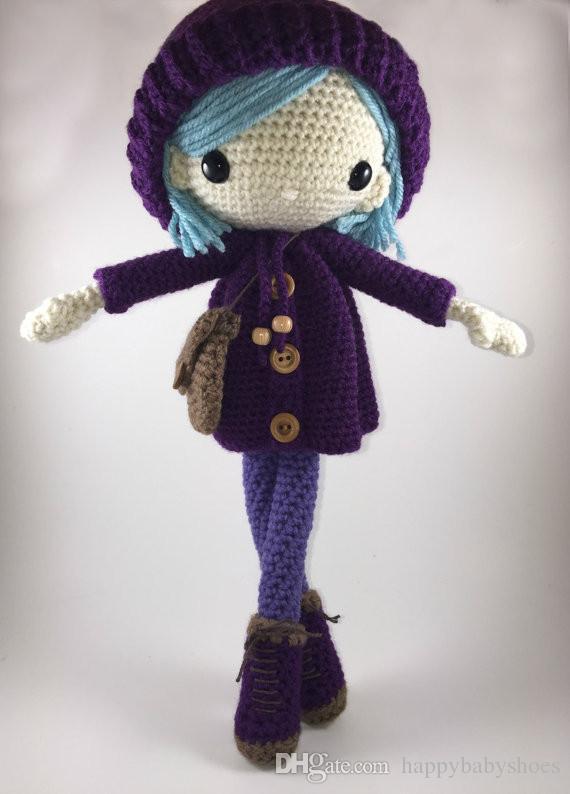 Emilia - Amigurumi Doll Crochet ragazze giocattolo sonaglio Baby Doll regalo