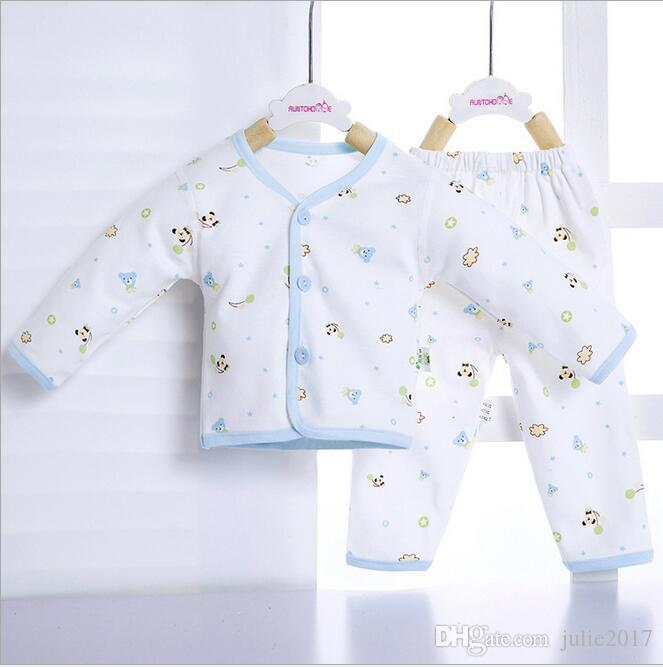 50b0ce690 2019 Soft Nice Newborn Long Johns Cotton Suit Infant Underwear Set ...