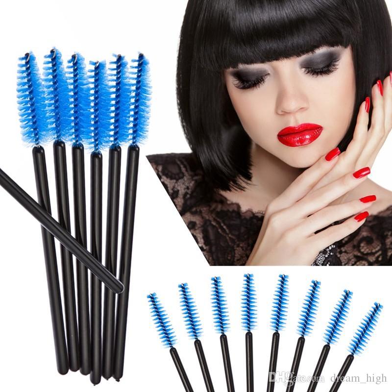 / Brosse À Cils Jetable Mascara Baguettes Applicateur Spoolers Cils Lèvres Cosmétiques Brosses Maquillage Outil Multicolore