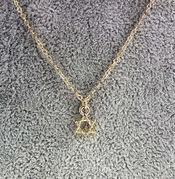 Hollow Star Dogeared Halskette spirituelle Weisheit, edler und zarter Schmuck, sechszackiger Stern Chokerhalsketten klassisches Geburtstagsgeschenk