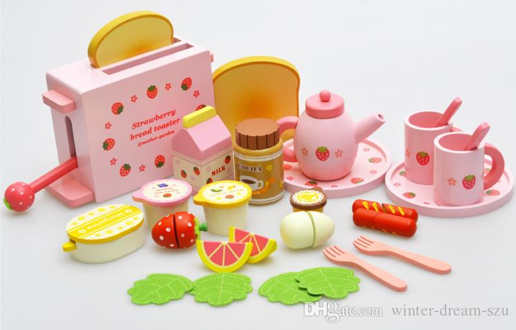 2016 Mother Garden Childrenu0027S Wood Playhouse Game Toy Toaster Toast Bread Kids  Wooden Kitchen Toys Set Free Dhl E605e Building Blocks For Children  Building ...