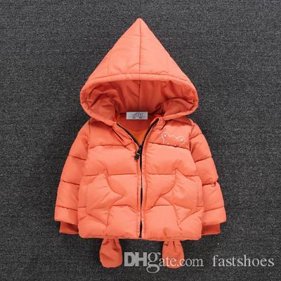Can Özel Erkek ve kız aşağı pamuk çocuk ceket kış 1-2-3-yaşındaki bebek kalın ceket bebek karikatür pamuk mont