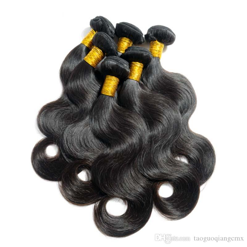 Brazilian Peruvian Malaysian Original Human Hair weft Natural Color 7A High quality Indian Mongolian remy Human Hair Body Wave free sipping