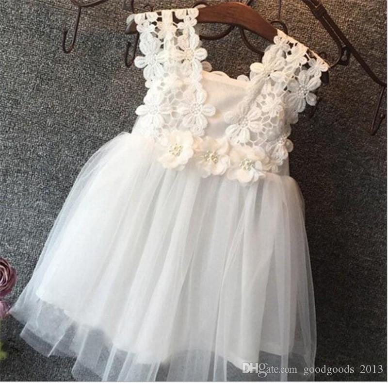 d31126f13917 Hug me Baby Girls Clothes Lace Tutu Dresses Children's Princess Dresses for Kids  Clothing 2016 Summer flower girls wedding Party Dress K432