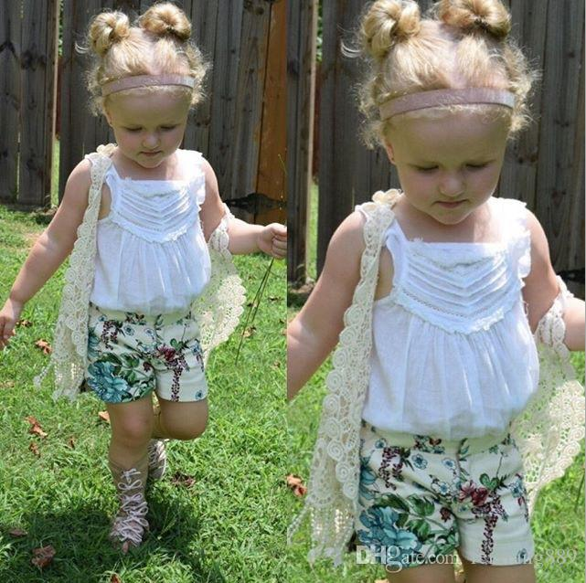 !children clothing 2016 summer girls crochet lace hollow tassel vest cardigan jacket outfits baby fringed tops for 1-5Y kids clothes