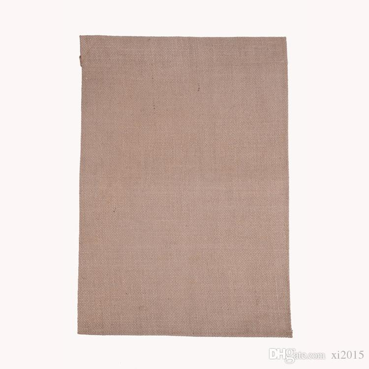Burlap Garden Flag 31 * 46cm Jute Ruffles DIY Lniana Yard Wiszące Flag Dom Dekoracji Przenośny Banner 4 Style Wen4363
