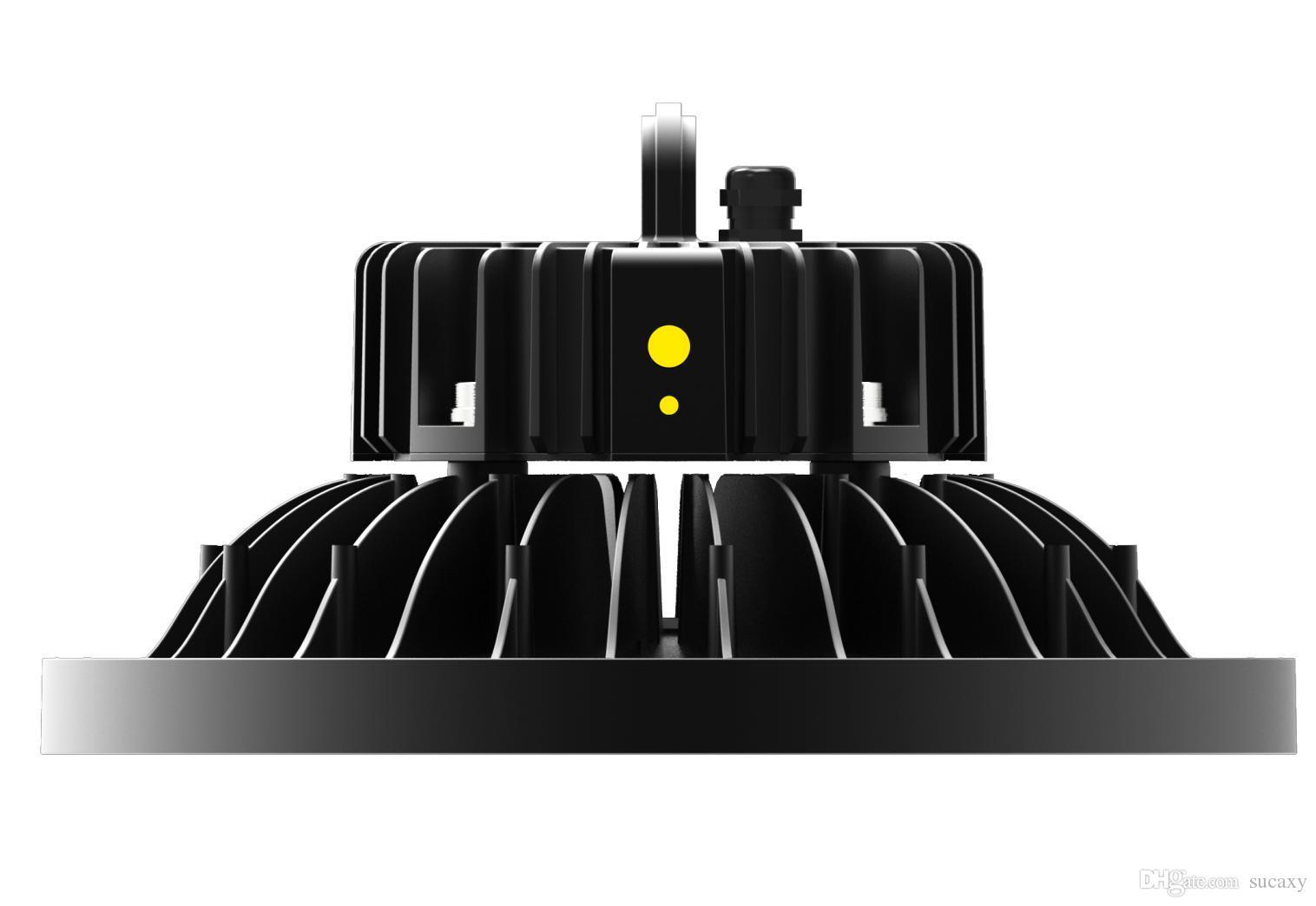 Lumière industrielle élevée de baie d'éclairage de LED allumant l'UL CUL CB SAA de conducteur de MeanWell de puce de Nichia 3030 LED de forme ronde de 100/150 / 200W